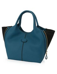 92873fdd2f0 Tods Kleine Shopping Bag in Leather Blauw Tods Bag, Fashion Branding,  Shopping Bag,