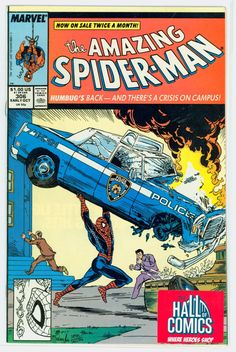 """The Amazing Spider-Man"" Issue #306, known for emulating the classic cover of ""Action Comics"" Issue #1--the first appearance of Superman."
