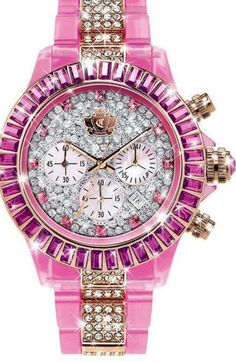 Yes please! Gorgeous pink bling watch