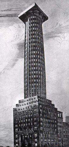 Salto di scala - Adolf Loos - Progetto per il concorso del Chicago Tribune