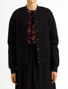 neoprene varsity jacket