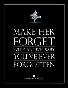 You can still have a fantastic campaign if you use a brand's original tagline. De Beers Diamonds • Print - kingportfolio.com