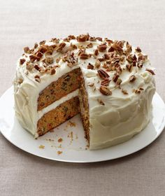 Carrot Cake Recipe... I want to try making it with reduced fat sour cream and cream cheese;  will leave out the butter (or 2/3 of it) for the frosting.  It won't do much for the sugar but it will reduce the fat and saturated fat by a fair bit.