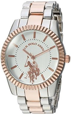 870b9e6927b US Polo Assn Womens Quartz Metal and Alloy Casual Watch ColorTwo Tone Model  USC40263 --