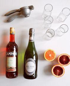 a campari blood orange cocktail