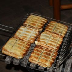 Braaibroodjies with goats cheese and tomato chilli jam (Filling maybe not so traditional, but the concept of toasties on the fire is there) Braai Recipes, Camping Recipes, Camping Meals, Braai Pie, Tomato Chilli Jam, My Favorite Food, Favorite Recipes, South African Recipes, Backyard Bbq