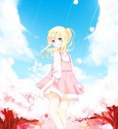 Miyazono Kaori - Shigatsu wa Kimi no Uso - Your Lie in April Sad Anime, Me Me Me Anime, Anime Love, Kawaii Anime, Manga Anime, Anime Art, Vocaloid, Miyazono Kaori, Your Lie In April