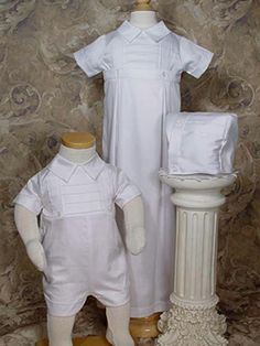 Boys Cotton Convertible Christening Set LDS Baptism Dresses for Infant A button off skirt creates a boys christening-baptism set that both Mom an Christening Gowns For Boys, Baptism Gown, Baby Baptism, Boy Baptism Outfit, Christening Outfit, Première Communion, Baby Blessing, Convertible Dress, Boy Fashion