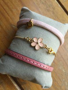 Roze/goud/bloem
