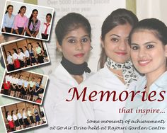 Memories that inspire some moments of achievements at Go Air held at #Frankfinn Rajouri Garden Centre.
