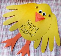 Easy Easter Cards for Preschoolers for Toddlers to make this Easter. We love Easter Crafts for kids! Easter Projects, Easter Art, Hoppy Easter, Easter Crafts For Kids, Easter Chick, Easter Ideas, Bunny Crafts, Easter Decor, Easter Eggs