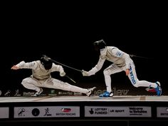 Fencing - action by Noel Patterson, via Behance