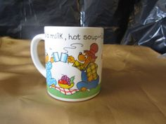 Mug-Berenstain-Bears-Coffee-Cup-1987-Picnic-VTG-Handcrafted-Ceramic-Mugs-Cups