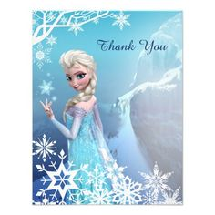 Frozen Elsa Thank You Card