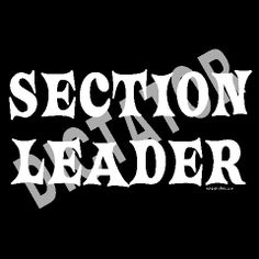 Marching Band Humor | Section Leader Dictator Custom T-Shirts | Funny Musician
