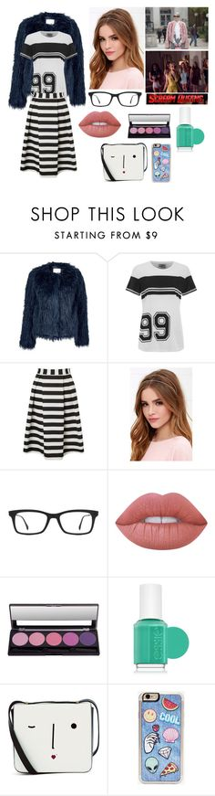 """Hipster Chanel"" by prettylittletimelord on Polyvore featuring Samsøe & Samsøe, Baum und Pferdgarten, Lipsy, Lulu*s, Chanel, Ray-Ban, Lime Crime, Essie, Lulu Guinness and Zero Gravity"