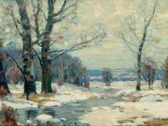 """Winter's Magic, Woodstock, New York,"" John Fabian Carlson, oil on canvas, 18 x 24"", private collection."