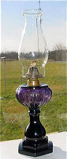 AWESOME  PURPLE KEROSENE OIL LAMP-VINTAGE