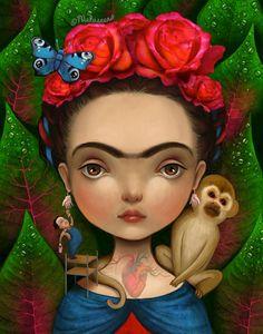 Frida Kahlo foi uma importante pintora mexicana do século XX e considerada por alguns especialistas artista que fez parte do surrealismo, o que a própria negava, dizia que não pintava sonhos, mas s…