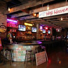 Bar Jackson goes to in Tampa Cafe Restaurant, Restaurant Design, Barbecue Restaurant, Restaurant Ideas, Bar Country, Sport Bar Design, Biker Bar, Café Bar, Bar Interior