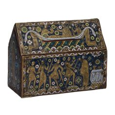 Becket casket C). This reliquary once held some of the remains of Archbishop Thomas à Becket, who was murdered in Canterbury Cathedral in Medieval Life, Medieval Art, Catholic Art, Religious Art, Wood Box Design, High Middle Ages, Classical Antiquity, Medieval Jewelry, Early Christian