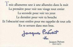 Moi aussi je veux qu'on me parle comme ça !!!! Trois allumettes / Jacques Prévert