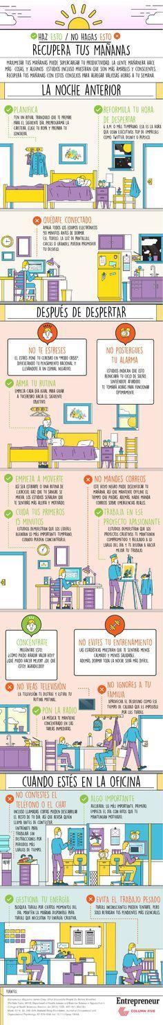 Cómo aprovechar tus mañanas. #Emprededurismo #Motivación #ColumFive