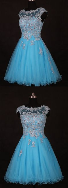 Sky Blue Beading Homecoming Dresses,Sexy Party Dress,Charming Homecoming Dress,Graduation Dress,Homecoming Dress,Short Prom Dress