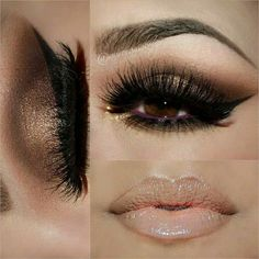 I love a gold/nude smokey eye!!! Smokey eyes can be achieved with any color,  not just black
