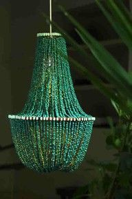 emerald chandelier wedding decoration