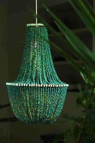 emerald chandelier wedding decoration