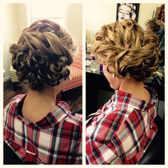 Great Gatsby or Roaring Twenties inspired up-do. We added a headband later and it was just lovely all together