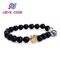 Black beaded macrame men's bracelets trend patterns are so cool.The main material are beautiful black beads ,stainless steel leopard charm and excellent elastic glue line.It is high quality and 100% handmade.The black beads shows calm and modest,you can wear it whenever and wherever.At the same time, wear it you will be very popular with girls.Of