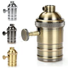 Vintage E27 Lamp Holder Loft Industrial Style Brass E27 Socket Edison Lampholder Base For Pendant Ceiling Light