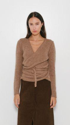 A Detacher Tiara Wrap Sweater | The Dreslyn