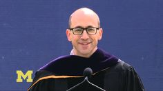 Richard Costolo (CEO Twitter, and former comedian) at 2013 University of Michigan Spring commencement.
