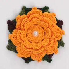 Best 12 Easy and Cute Free Crochet Flowers Pattern Image Ideas for new Season 2019 Part crochet flowers;Com Crochet Flower Tutorial, Crochet Flower Patterns, Crochet Designs, Crochet Flowers, Crochet Leaves, Irish Crochet, Diy Crochet, Crochet Crafts, Crochet Projects