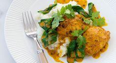 Chicken curry with cauliflower rice