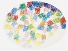 Piero Dorazio (Italian, 1927-2005), Senza titolo, 1982. Gouache and watercolour on paper, 45.5 x 58 cm. (oval)