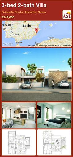 3-bed 2-bath Villa in Orihuela Costa, Alicante, Spain ►€243,000 #PropertyForSaleInSpain
