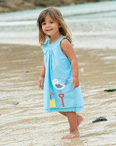 Baby Reversible Pinafore Dress - Reverse