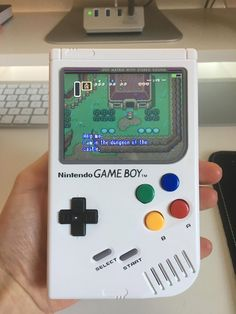 After purchase, you will be in contact by E-Mail, in regards about shipping dates The GameBoy Zero is a portable gaming/media device, which is built from a Rasp Nintendo Games, Nintendo Consoles, Raspberry, Zero, Dots, Building, Products, Buildings, Raspberries