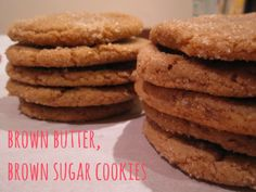 Brown Butter, Brown Sugar Cookies