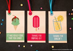 These cute FREE printable tags are a fun way to dress up summer party favors.