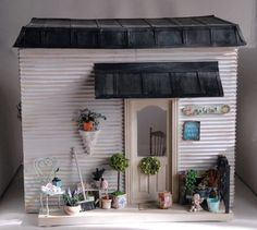 The little house Dollhouse Miniature Tutorials, Miniature Houses, Dollhouse Miniatures, Miniature Gardens, Tiny Houses, Cabana, Diy Arts And Crafts, Miniture Things, House 2