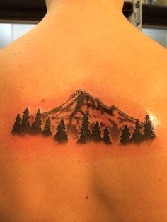 Mt. Hood tattoo done at Pussycat Tattoo, Milwaukie, OR. #mthood