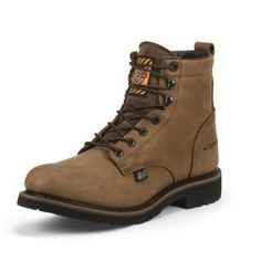 Justin Mens Worker II WP Wyoming Work Boots 8.5D: JUSTIN BRANDS INC #Horse #Horses #Pets #Equestrian #Rider