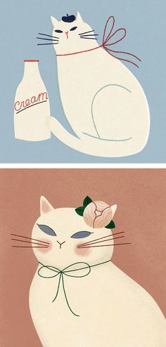 Cat illustrations by Clare Owen #cats #illustratedcats #illustration #catillustrations