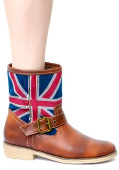 Wanted Brit Mid Hi Buckle Boots | Dolls Kill