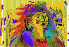 """""""Art Brut Native American"""" original digital drawing"""